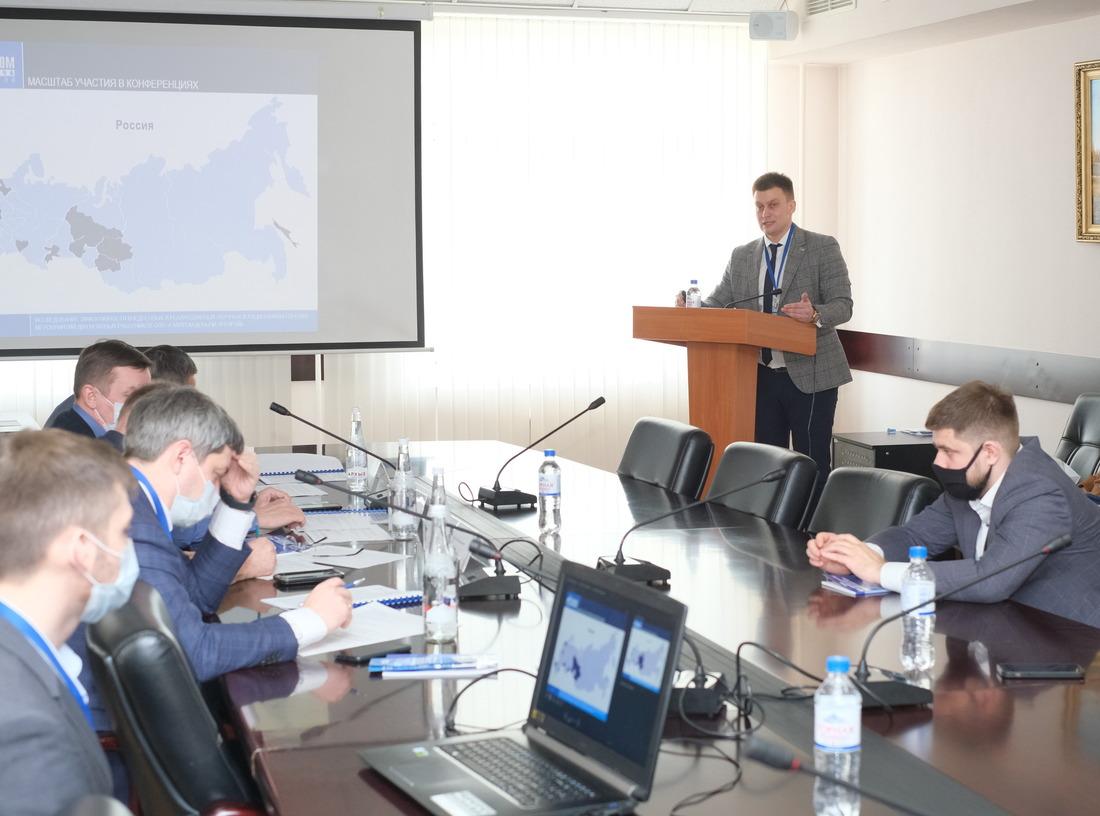 """Работники ООО""""Газпром добыча Уренгой"""" ежегодно участвуют внаучно-практических конференциях, где представляют свои инновационные проекты затрагивающие актуальные вопросы эффективной ибезопасной разработки Уренгойского нефтегазоконденсатного месторождения"""