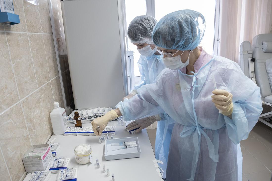 Вакцинация проводится набазе Медико-санитарной части ООО«Газпром добыча Уренгой»