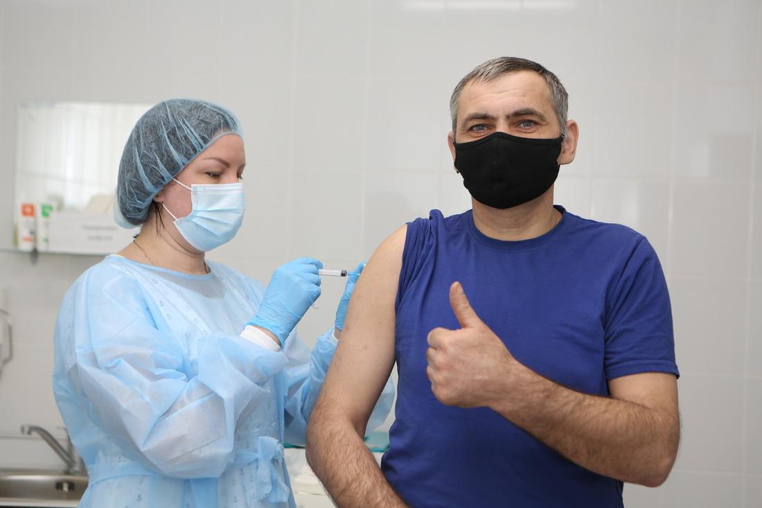 Газодобытчики спониманием относятся кнеобходимости вакцинации иактивно участвуют впрививочной кампании