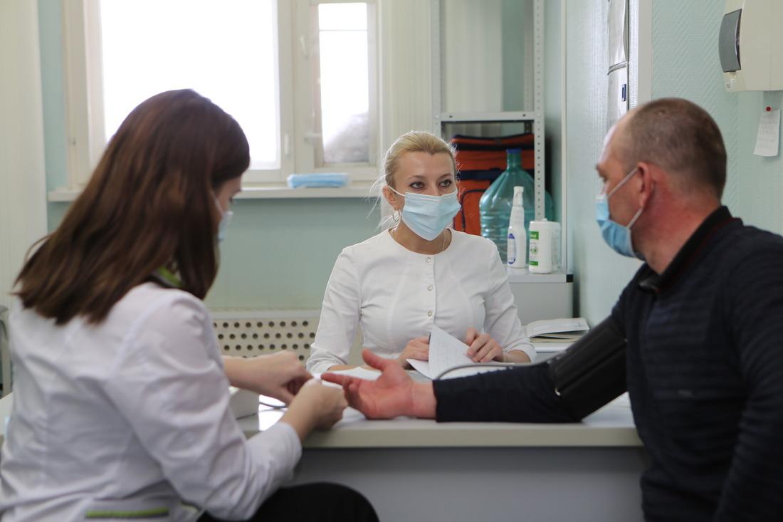 Индивидуальный осмотр перед вакцинацией