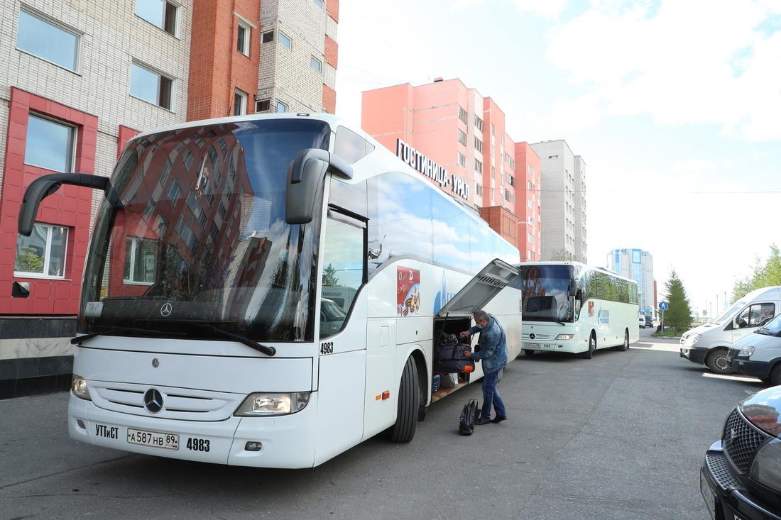 Длявахтового персонала подготовлен корпоративный транспорт