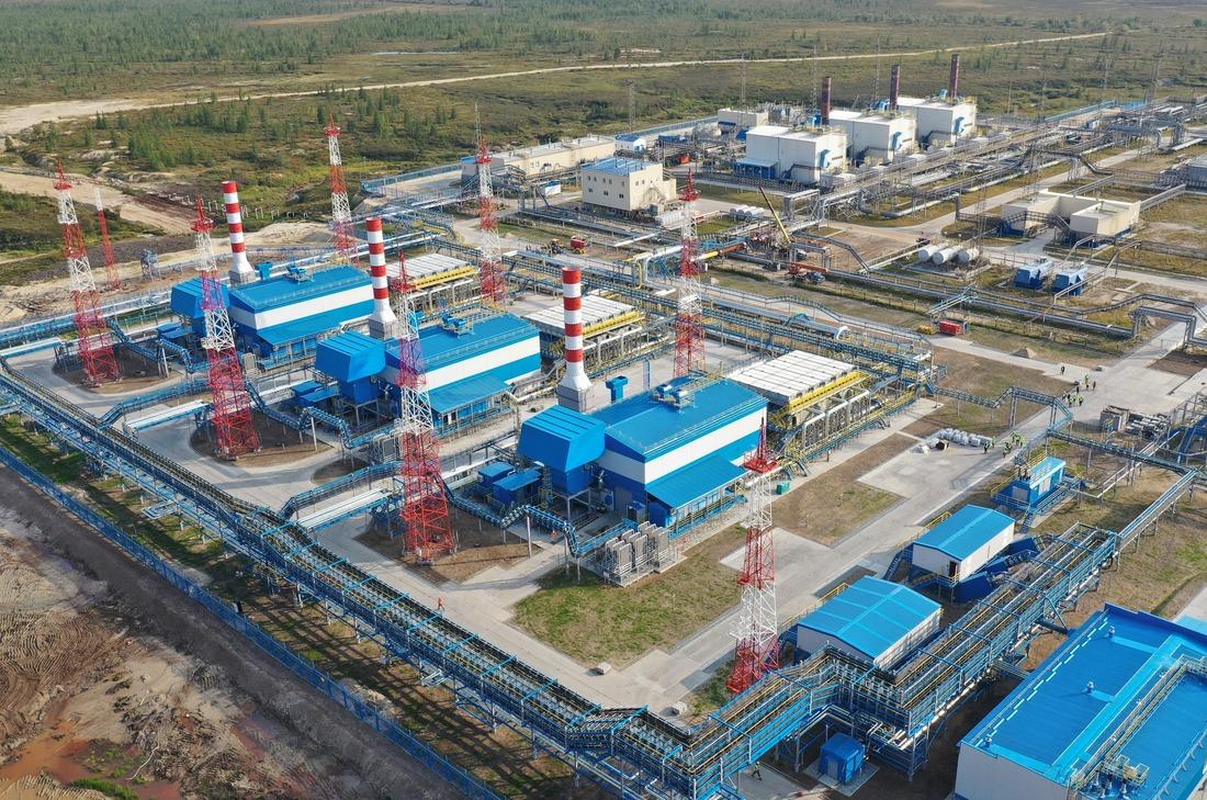 Дожимная компрессорная станция наустановке комплексной подготовки газа 5В